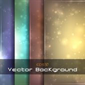 Sparkle Backgrounds Set