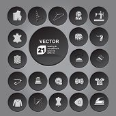Sewing Icon Set Gray