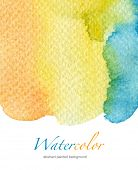 Abstract watercolor hand painted background. Textured paper.