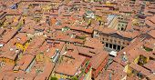 Aerial view of Bologna, Italy.