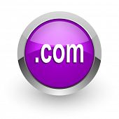 com pink glossy web icon