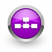 database pink glossy web icon