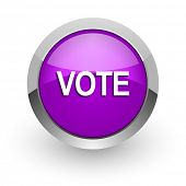vote pink glossy web icon