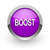 boost pink glossy web icon
