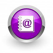 address book pink glossy web icon