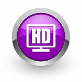 hd display pink glossy web icon