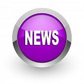 news pink glossy web icon