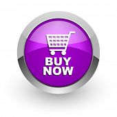 buy now pink glossy web icon
