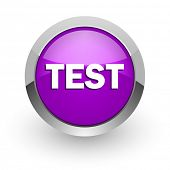 test pink glossy web icon
