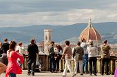 Tourists In Florence, Piazzale Michelangelo