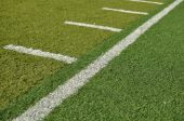 Side Line Of A Football Field