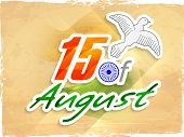 Vintage poster, banner or flyer design for 15th of August, Independence Day celebrations with flying