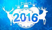 Paper Art 2016 Ornament Decorative Blue Background