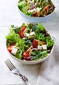 Mediterranean-Style Salad with Feta, Green Olives and Capers