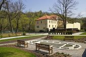 Lithuanian Folk Cultural Center Spring Landscape