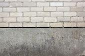 White Silicate Bricks And Plaste