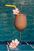 Chocolate Shake At The Swimming Pool