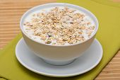 Delicious And Healthy Granola Or Muesli