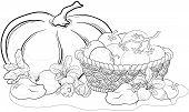 Vegetables, still life, outline