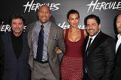 LOS ANGELES - JUL 23:  Ian McShane, Dwayne Johnson, Irina Shayk, Brett Ratner at the