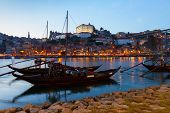 Night scene of Porto, Portugal
