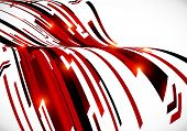 Abstract dark red curves vector background