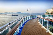 MEDITERRANEAN - July 5:  Deck of luxury Princess Cruises ship