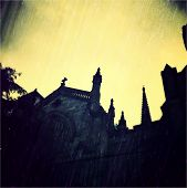 Instagram filtered image of a haunted church