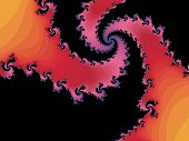 Patterned fractal spiral in a pink colors