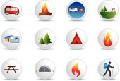 Camping And Outdoor White Button