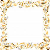 Golden jewelry frame