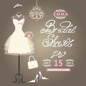 Bridal Shower card.Cute wedding invitation