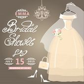 Bridal Shower card.Vintage wedding invitation