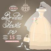 Bridal Shower card.Vintage wedding invitation