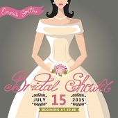 Bridal Shower invitation with bride