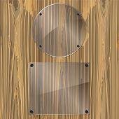 Glass On A Wood