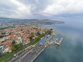 Koper, Slovenia - May 2, 2014: Port of Koper in Slovenia.
