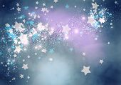 Abstract background image with bokeh lights and stars