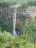 stock photo of chamarel  - Chamarel Falls In Mauritius Island - JPG