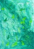 Green Grunge  Wash Drawing Watercolor   Handmade Background  For Different Purposes