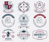 picture of school building  - Vector badges and crests for any use - JPG