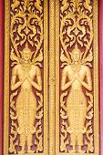 Design Beautiful Door In Thai Temple