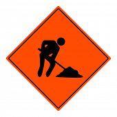 Men at work vector sign illustration