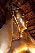Half Of Reclining Buddha In Wat Pho