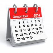 stock photo of calendar 2014  - 2014 year desk calendar - JPG