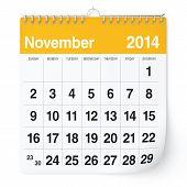 stock photo of calendar 2014  - 2014 year calendar - JPG