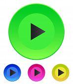 Illustration Vector icon Play button web icon