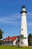 Wind Point Lighthouse In Wisconsin