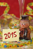 picture of talisman  - talisman in marzipan for new year 2015 - JPG