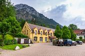 HOHENSCHWANGAU, GERMANY - 19 JUNE 2014: Souvenir shop in Hohenschwangau village at Neuschwanstein Ca